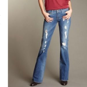 PAIGE New Distressed Bootcut Jean